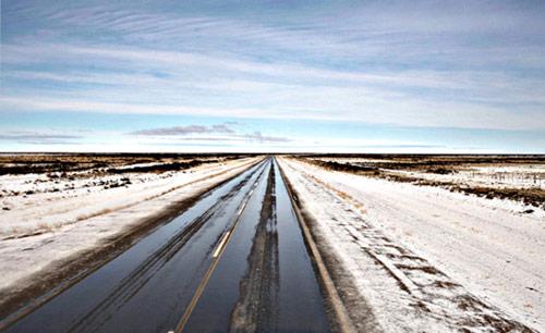 Sulla strada della Patagonia.