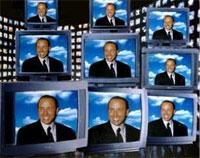 Berlusconi in televisione.