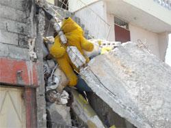 Macerie del terremoto ad Haiti.