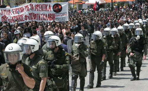 sciopero in grecia