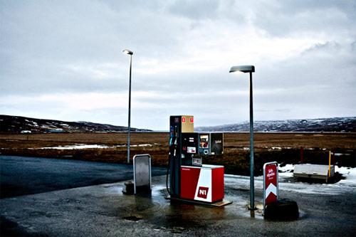 Pompa di benzina a Staδarskáli