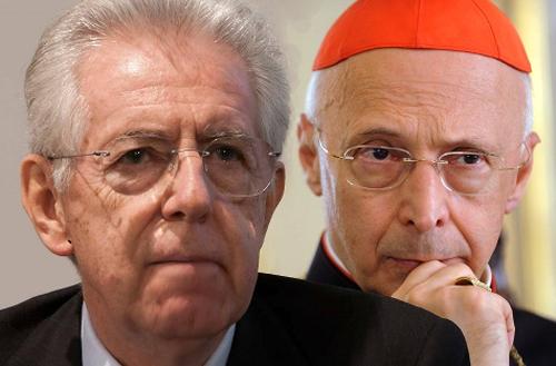 Mario Monti e Angelo Bagnasco