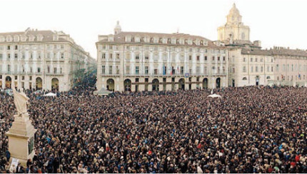 Grillo a Torino.