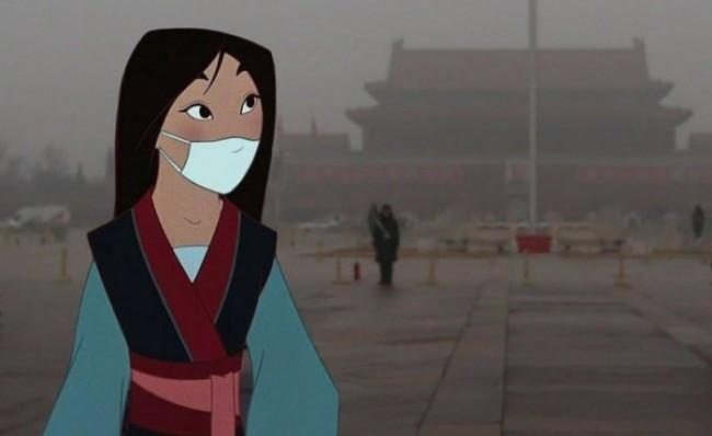 Mulan si protegge dall'inquinamento